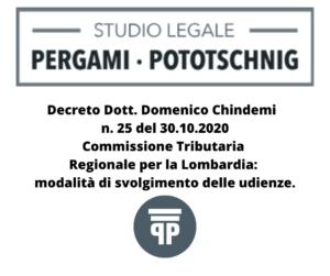 articolo Commissione Tributaria Regionale per la Lombardia modalità di svolgimento delle udienze