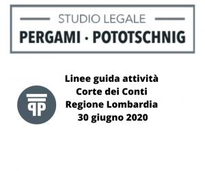 Linee guida attività Corte dei Conti Regione Lombardia