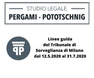 Linee guida del Tribunale di Sorveglianza di Milano