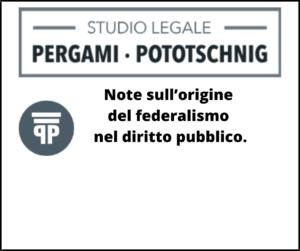 Note sull'origine del federalismo nel diritto pubblico