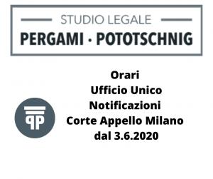 Orari Ufficio Unico Notificazioni Corte Appello Milano