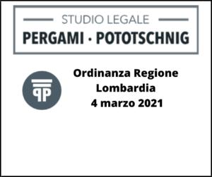 Ordinanza Regione Lombardia 4 marzo 2021