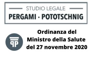 Ordinanzadel Ministro della Salute del 27 novembre2020