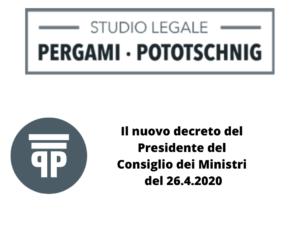 nuovo decreto delPresidente del Consiglio dei Ministri