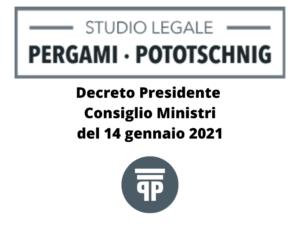 DPCM del 15 gennaio 2021