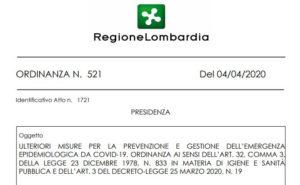 ordinanza regione 4 aprile